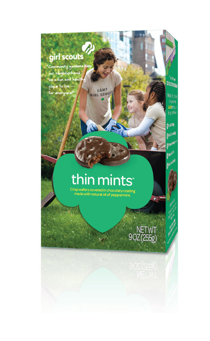 girl scout cookies box redesign | whitespace